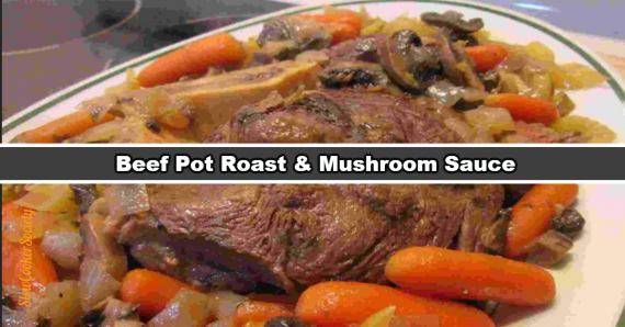 Tasty Slow Cooker Beef Pot Roast with delicious mushroom sauce. Pretty simple... but so tasty. :-) What's better than a good beef pot roast? Answer: one that is made in the slow cooker, simply because it will ease you life so much... People use their Crock Pot for different reasons... For some, simply because you don't need to be a