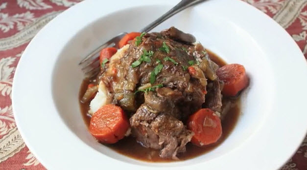 Slow Cooker Beef Pot Roast You Will Never Forget. The Most Tender Beef Pot Roast You'll Ever Eat. The secret when you cook a nice piece of beef chuck in a slow cooker isto make sure thatyou sear the meat before the long, slow braising. As seen on SlowCookerSociety.com