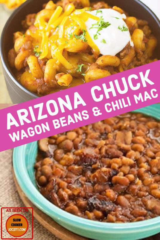 Arizona Chuck Wagon Beans & Chili Mac as seen on SlowCookerSociety.com
