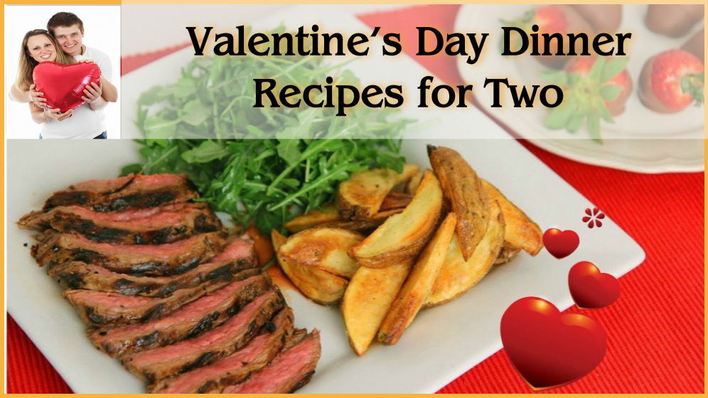 These Valentine's Day dinner recipes for two are worthy of the romantic occasion. Whip up a prime cut of flank steak that's even juicer than its steakhouse counterpart, or try your hand at a tender stuffed chicken recipe that's pretty as a picture.