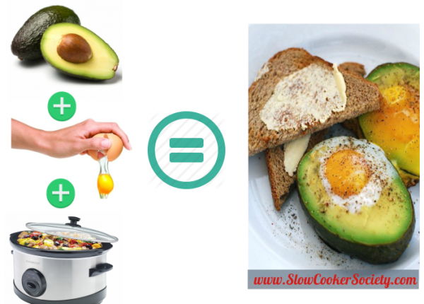 Crock-Pot Eggs in Avocados: This breakfast is usually made in the oven!... But you want to try the Slow Cooker version for more