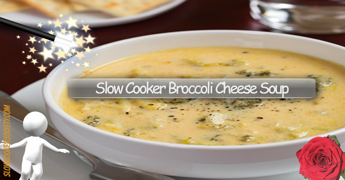 Delicious Slow Cooker Broccoli Cheese Soup