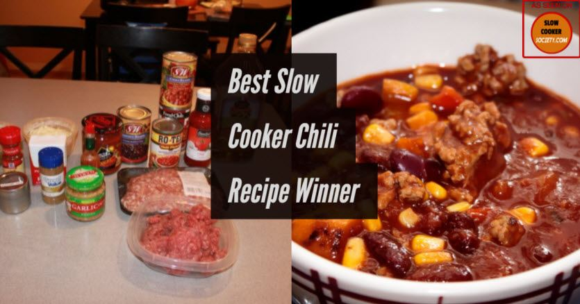 Easy Family Meals Award Winning Slow Cooker Chili
