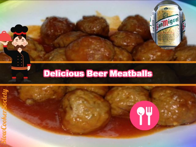 Easy and delicious slow cooker beer meatballs yummy