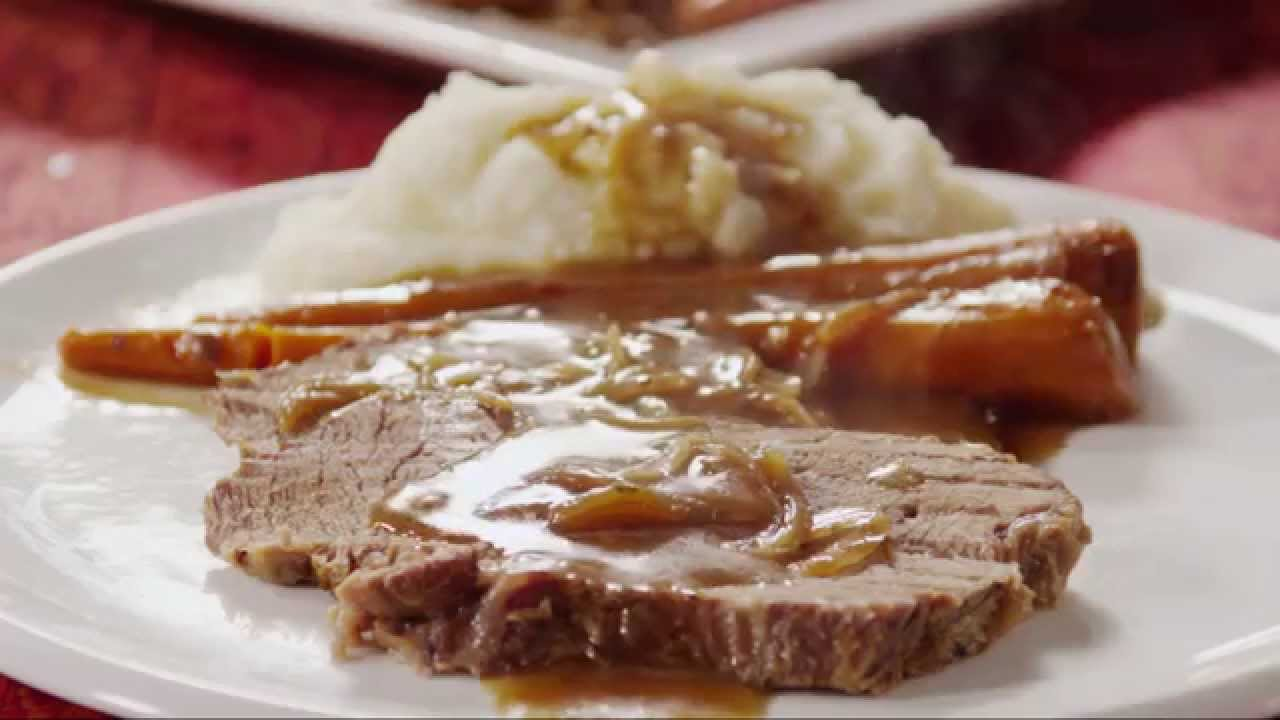 Simply The EASIEST Beef Pot Roast You Can Make. Easy as 1, 2, 3.