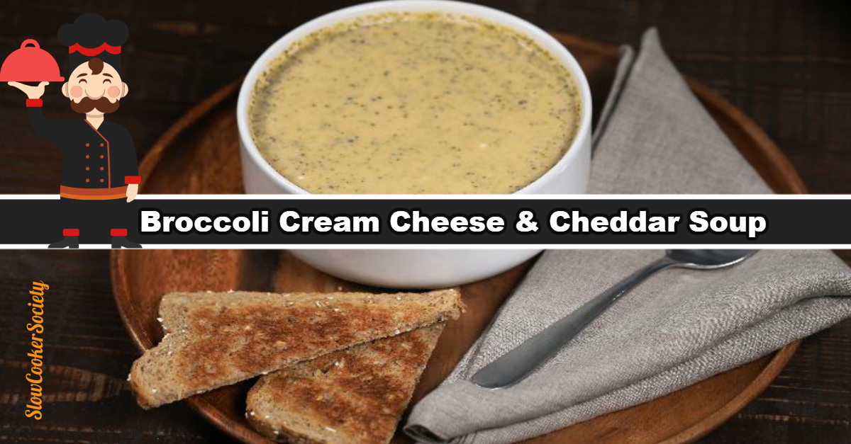 Slow Cooker Cheese Broccoli Soup Cream Cheese Yummy