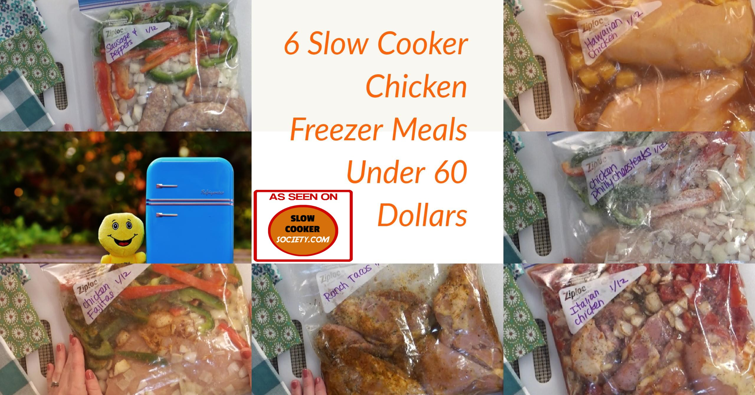 6 Easy & Cheap Crock Pot Freezer Meals Recipes Ready To Cook. Slow cookers are made for people who don't have time to cook, simply spend few minutes preparing the ingredients and drop everything in the crock pot for few hours... If you are always busy and don't have time for this short preparation, your solution is called freezer bags... Simply prepare them in advance during spare time and let them wait in the freezer... as seen on SlowCookerSociety.com