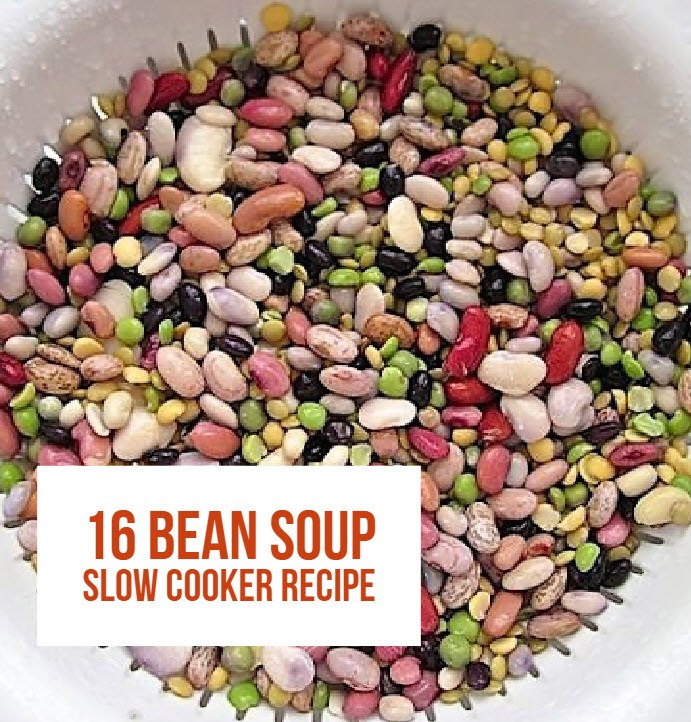 Here's How To Make a Delicious Crock Pot 16 Bean Soup. This is a great soup recipe to make when the weather gets colder or to anytime during the year for dinner. If you prefer you may use ground pork meat or sausage instead of turkey, make it to your taste!