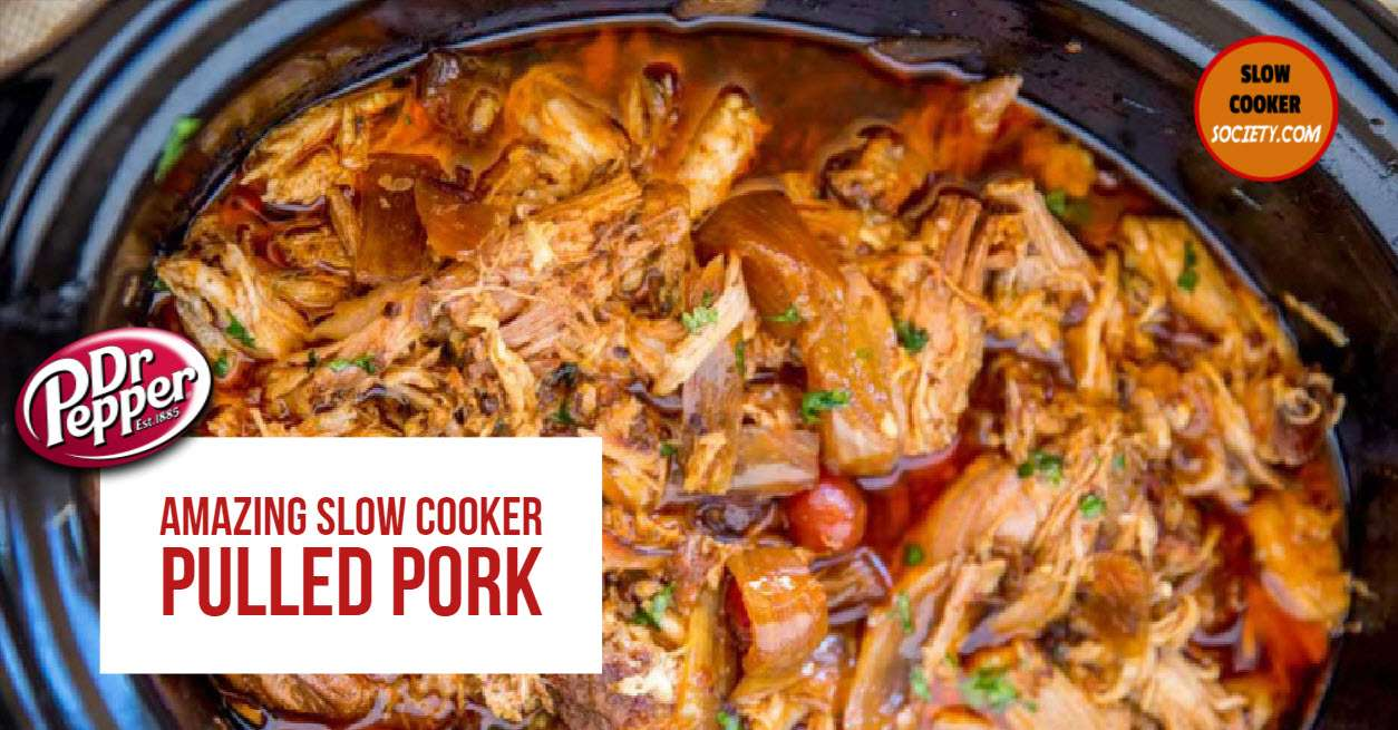 Pulled Pork is perfect when you need to serve a little crowd, families or even for easy meals for one person or a couple. Then simply keep the leftovers in the fridge for the coming days. If you are a pulled pork fan, you need to try this recipe made with Dr. Pepper... Mmmm, sweat and juicy, with special ingredients too! Maraschino cherries and sweet jalapenos.The resulting pork is outstanding. It's sweet, salty, and a little bit spicy. Get the ingredients on SlowCookerSociety.com. Mmmm... So good!