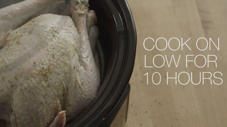 Slow Cooker Thanksgiving Turkey recipe cook on low for 10 hours