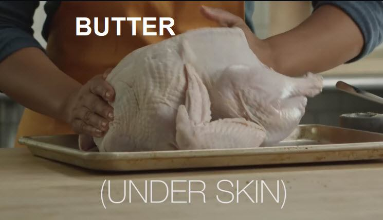 Slow Cooker Thanksgiving Turkey recipe rub with butter under skin