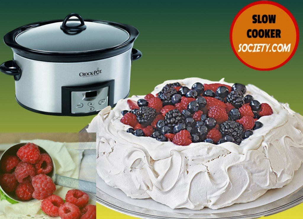 Yes! You Can Cook a Pavlova in the Slow Cooker and I am pretty sure you will forget about the oven in the future as seen on SlowCookerSociety.com