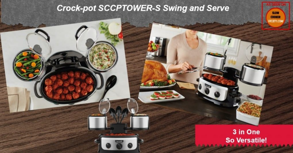 Crock-pot SCCPTOWER-S Swing and Serve as seen on slowcookersociety.com