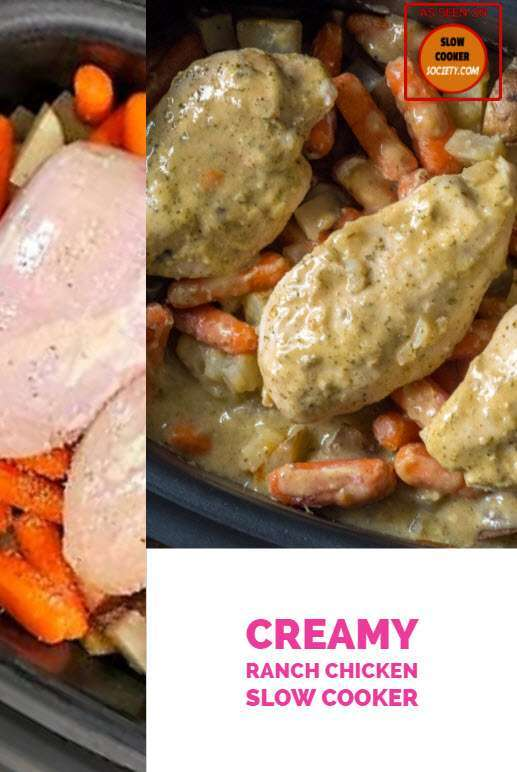 Creamy Ranch Chicken as Seen on SlowCookerSociety Yummy