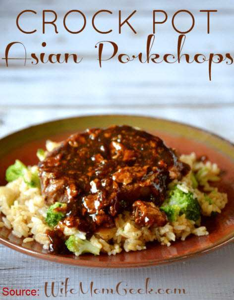 Slow CookeSlow Cooker Asian Pork Chops as seen on SlowCookerSociety.comr Asian Pork Chops1