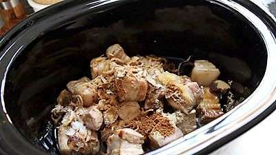 Slow Cooker Braised Pork Belly and Egg as seen on SlowCookerSociety3