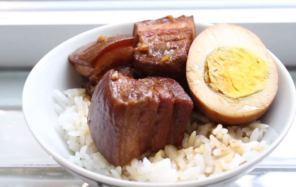 Slow Cooker Braised Pork Belly and Egg as seen on SlowCookerSociety4