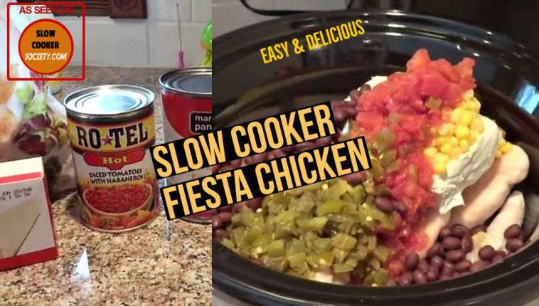 Slow Cooker Fiesta Chicken as seen on SlowCookerSociety1