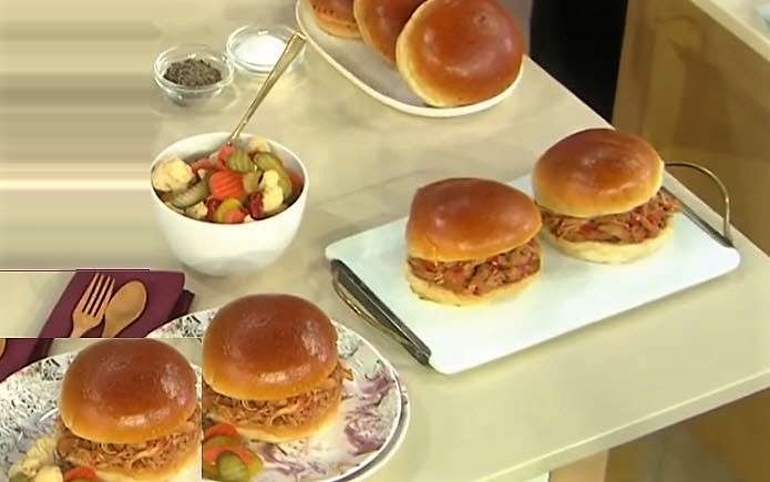 Spicy Buffalo Chicken Sandwiches Martha Stewart 3 slow cooker recipes and cookbook1