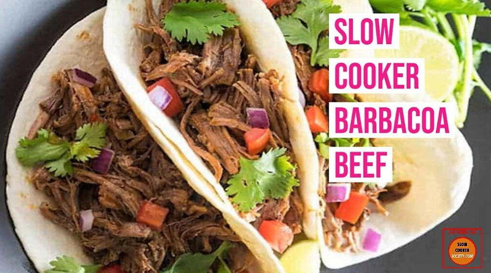 Slow Cooker Barbacoa as seen on SlowCookerSociety