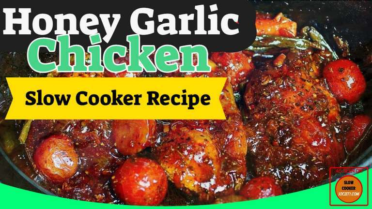 Slow Cooker Honey Garlic Chicken and Veggies Recipe as seen on SlowCookerSociety.com1